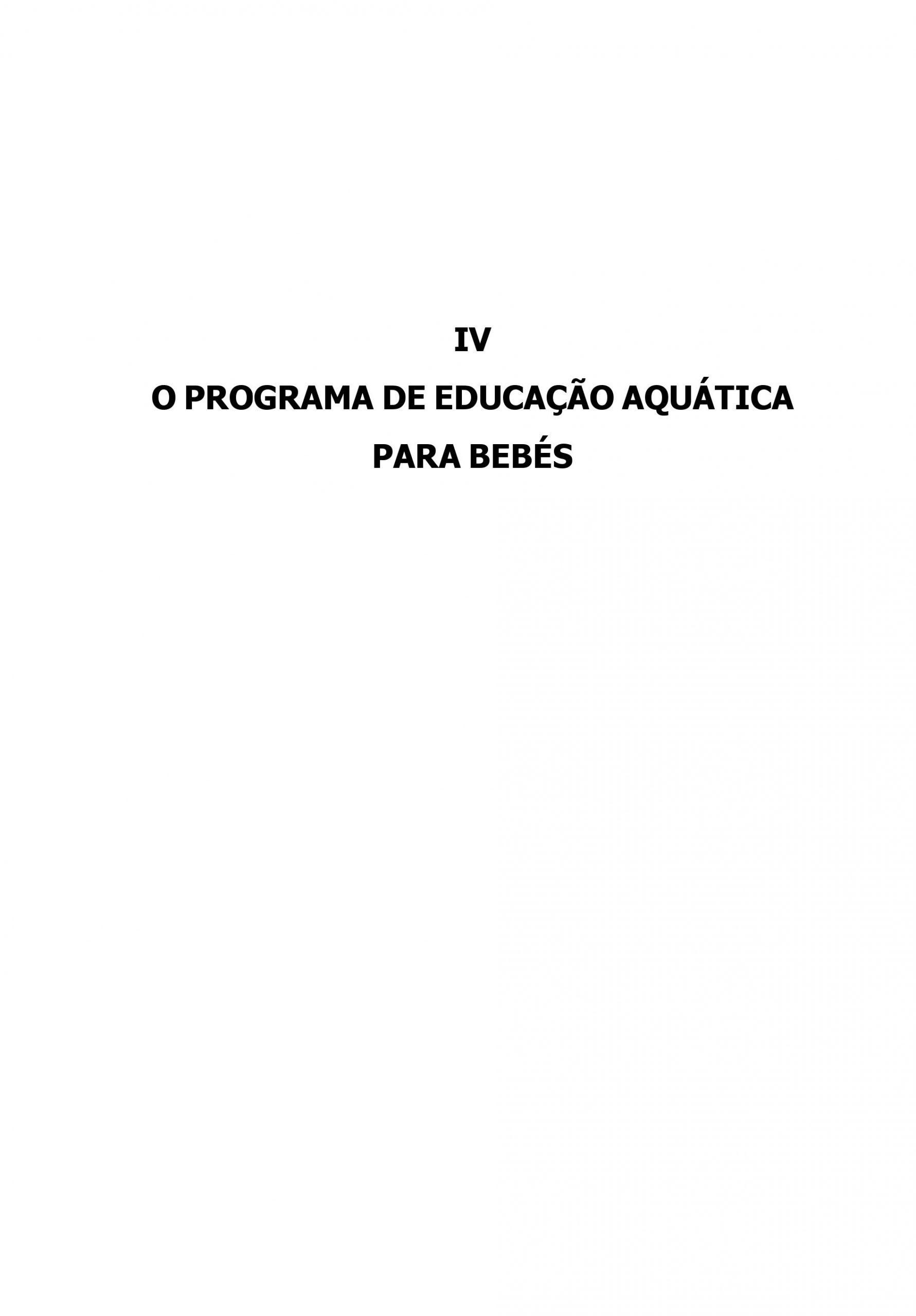 Educação Aquática do Bebé